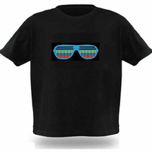 Yalabovso 2017 Sound Activated LED T Shirt Light Up Flashing Equalizer Tees EL T-Shirt Men for Rock Disco Party DJ T Shirts
