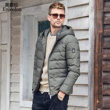 Enjeolon Brand Winter Thick Winter Down Jacket Coat Men Hood