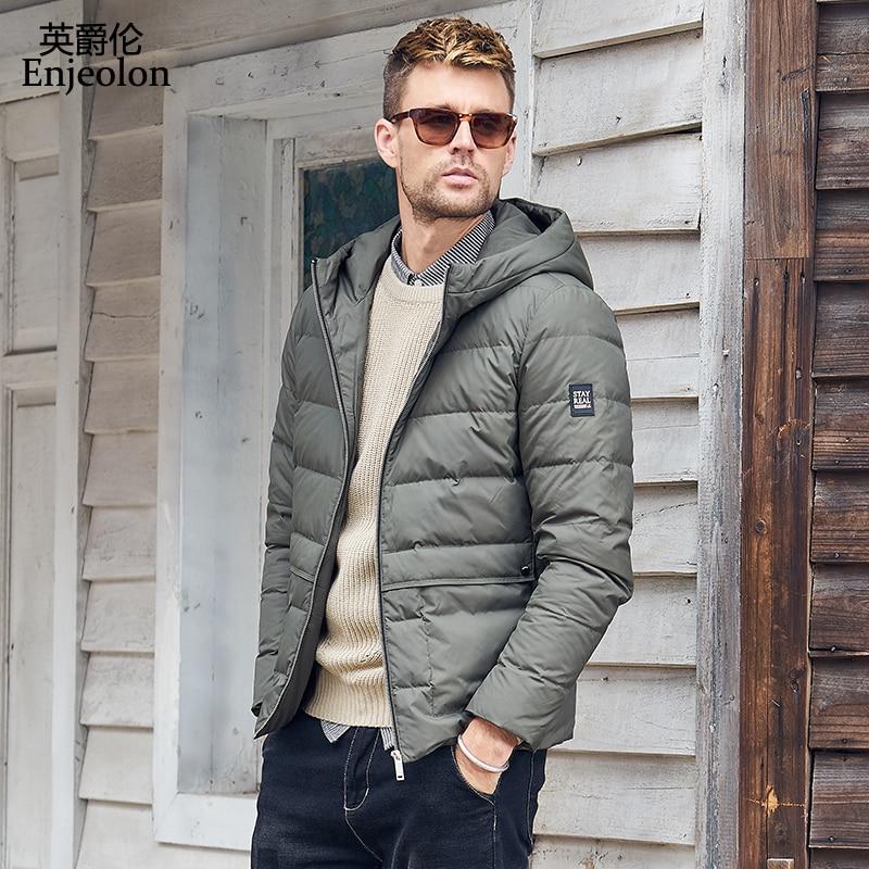 Enjeolon Brand Winter Thick Winter Down Jacket Coat Men Hoodies Parka Coat 3XL Male Warm Parka Coat Down Coat YR0131