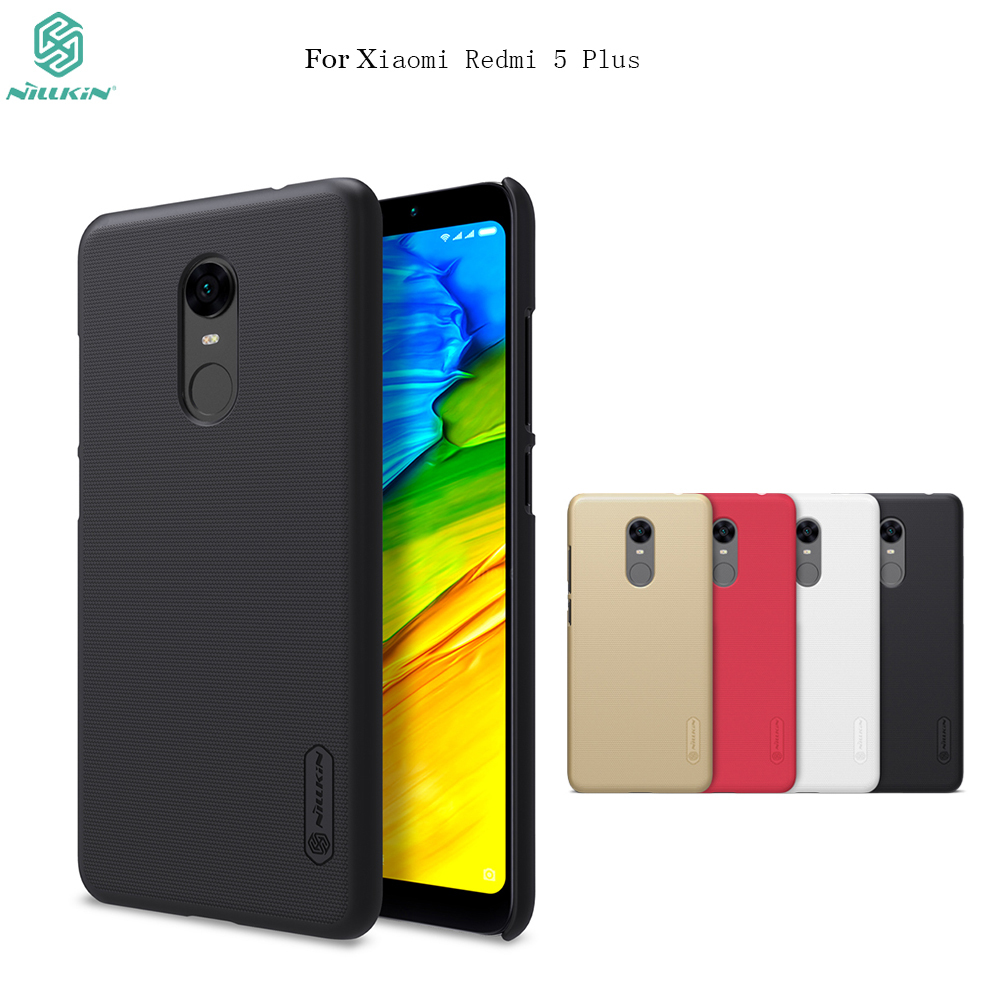 For xiaomi redmi 5 plus case NILLKIN Super Frosted Shield hard back cover case For redmi 5plus phone bags with Retail package