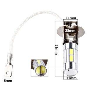 Image 3 - 2 個 H3 Led 電球車のライトハイパワーランプ 5630 Smd 昼間ランニング自動 Led 電球車のライト 12 V 6000 18K ホワイトイエローアンバー