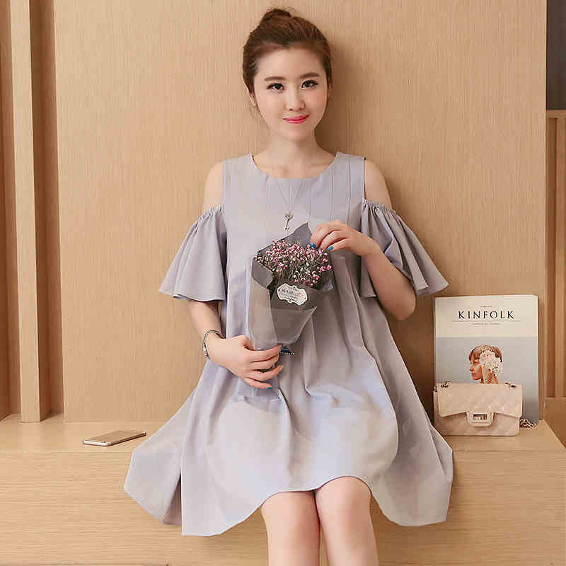 ФОТО Summer Pregnant Women Dress Maternity Casual Cute Dresses Pregnancy Knee Length Clothing Vestido Gravida Women Clothes Plus Size