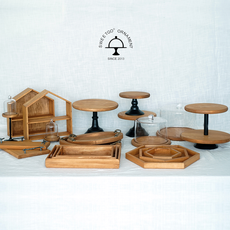 Sweetgo brown wood cake stand forest style wedding