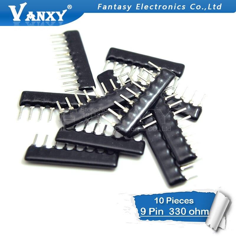 10pcs DIP Exclusion 9pin 330 Ohm A331J A331 330R  9A331 Network Resistor Array