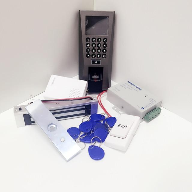 DIY Biometric Fingerprint and rfid Card Access Control Kit +180KG force Magnetic Lock Full Fingerprint Access Controller kit