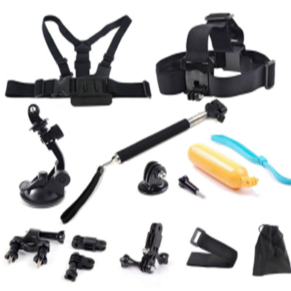 shoot action accessories set selfie stick bicycle clamp for gopro hero 5 4 3 sjcam sj4000 xiaomi. Black Bedroom Furniture Sets. Home Design Ideas