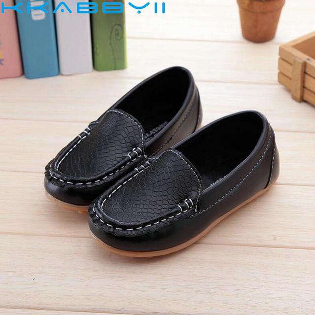 201f8728e4c7 New Fashion Kids shoes all Size 21- 36 Children PU Leather Sneakers For  Baby shoes Boys Girls Boat Shoes Slip On Soft