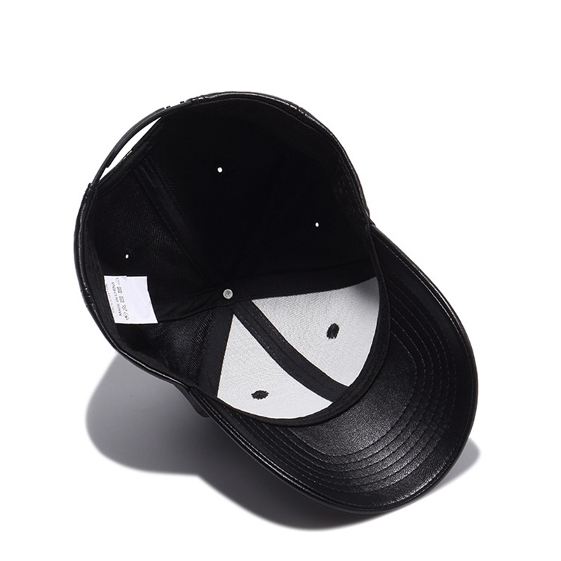 2adea8aae54 Yienws Brand Leather Baseball Caps for Men Kpop Curved Brim Bone Cheap  Plain Baseball Cap Summer Dad Hats Black Gorras YIC089-in Baseball Caps  from Apparel ...