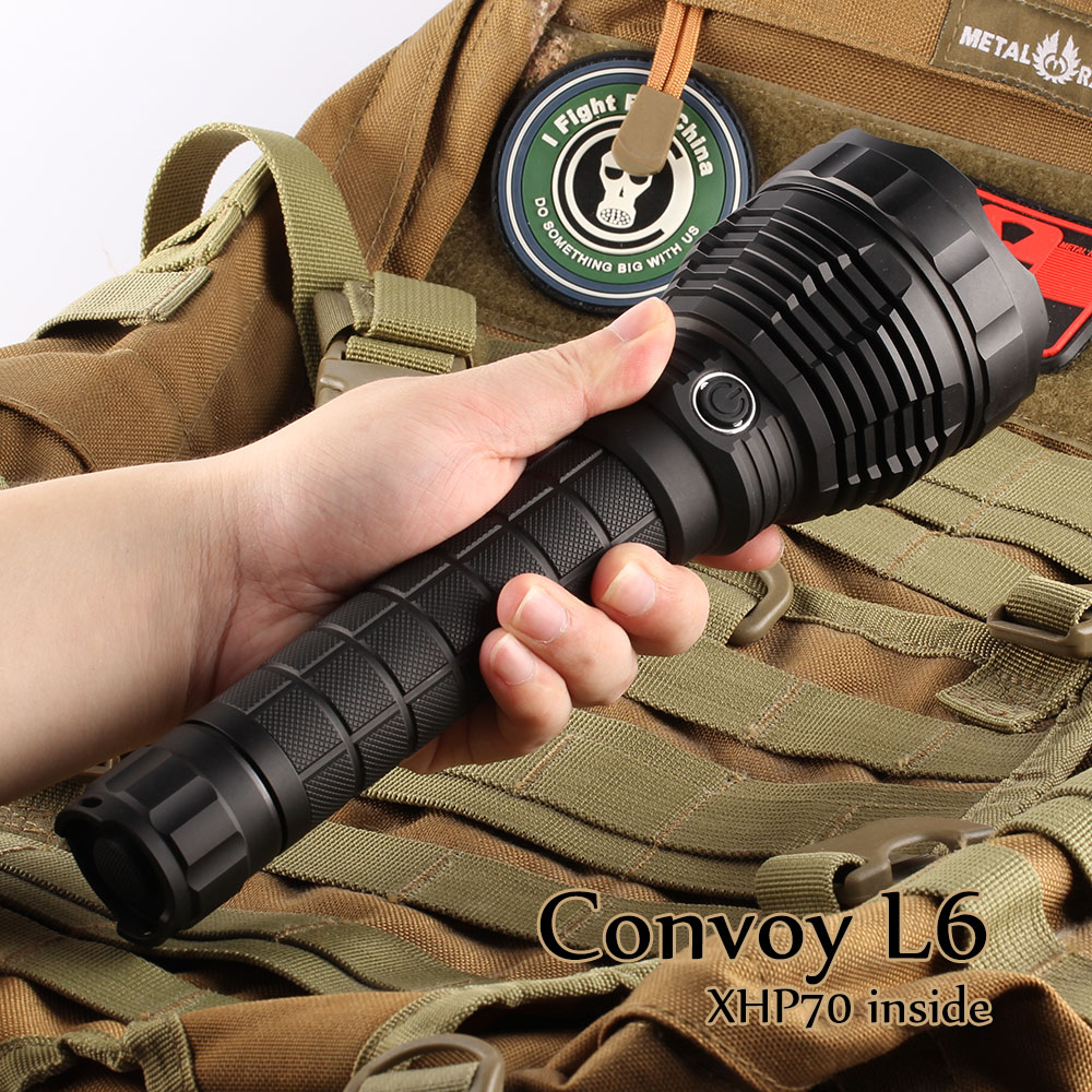 Black Convoy L6 flashlight XHP70 XHP70 2 led inside