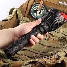 Black Convoy L6 flashlight ,XHP70.2 led inside
