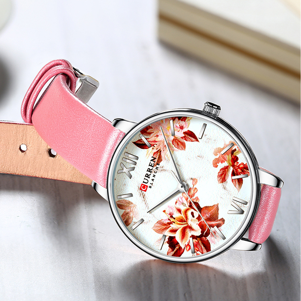 SHENGKE Simple Gray Watches Women Fashion Quartz Watch Luxury Brand Wristwatches For Lady Clock 2018 Newleather velvet gothic ta in Women 39 s Watches from Watches