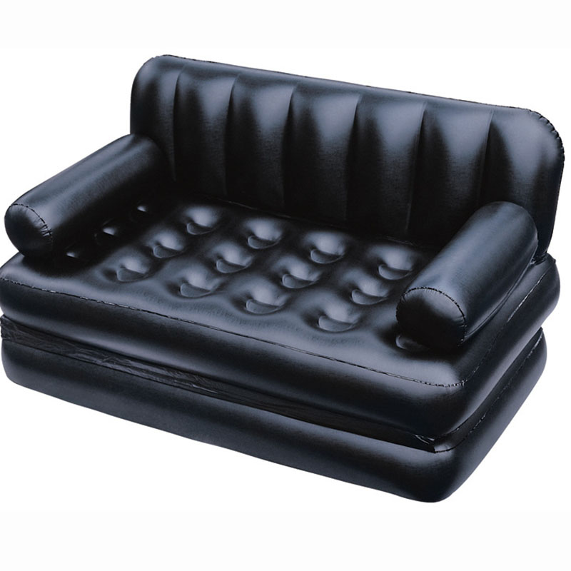 Image 4 - Camping Sofa PVC Outdoor Bed Apartment Folding Naive Home Sofa Black Furniture Modern Inflatable Air Sofa Beds Living Room Sofa-in Living Room Sofas from Furniture