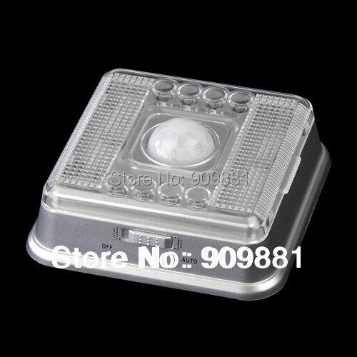 Luz Nocturna inteligente PIR inalámbrica 8 LED Auto gabinete pasillo detección de movimiento lámpara Sensor de movimiento luz nocturna batería Novedad hongo luz nocturna UE y EE. UU. Enchufe Sensor de luz 220V 3 LED lámpara de hongo colorido Led luces de noche