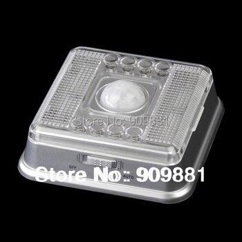 Luz Nocturna inteligente PIR inalámbrica 8 LED Auto gabinete pasillo detección de movimiento lámpara Sensor de movimiento luz nocturna batería
