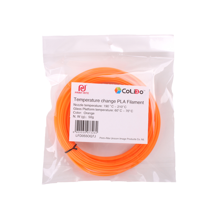 CoLiDo Universal 3D Printer Filament 50g 175mm Flexible Wooden Temperature Change PLA For Printing Pen In Materials From Computer Office