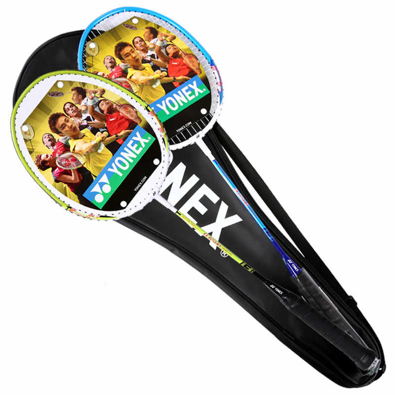 New Original Yonex badminton rackets B6500 finished rackets with strung YY rackets for beginner with bag