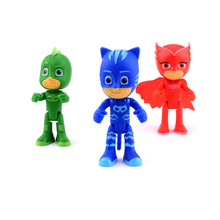 2018 New Hot Cartoon pj mask Character Catboy Owlette Gekko Action Figures Toys Birthday Gift Toy For Children Boys pjmask Modl