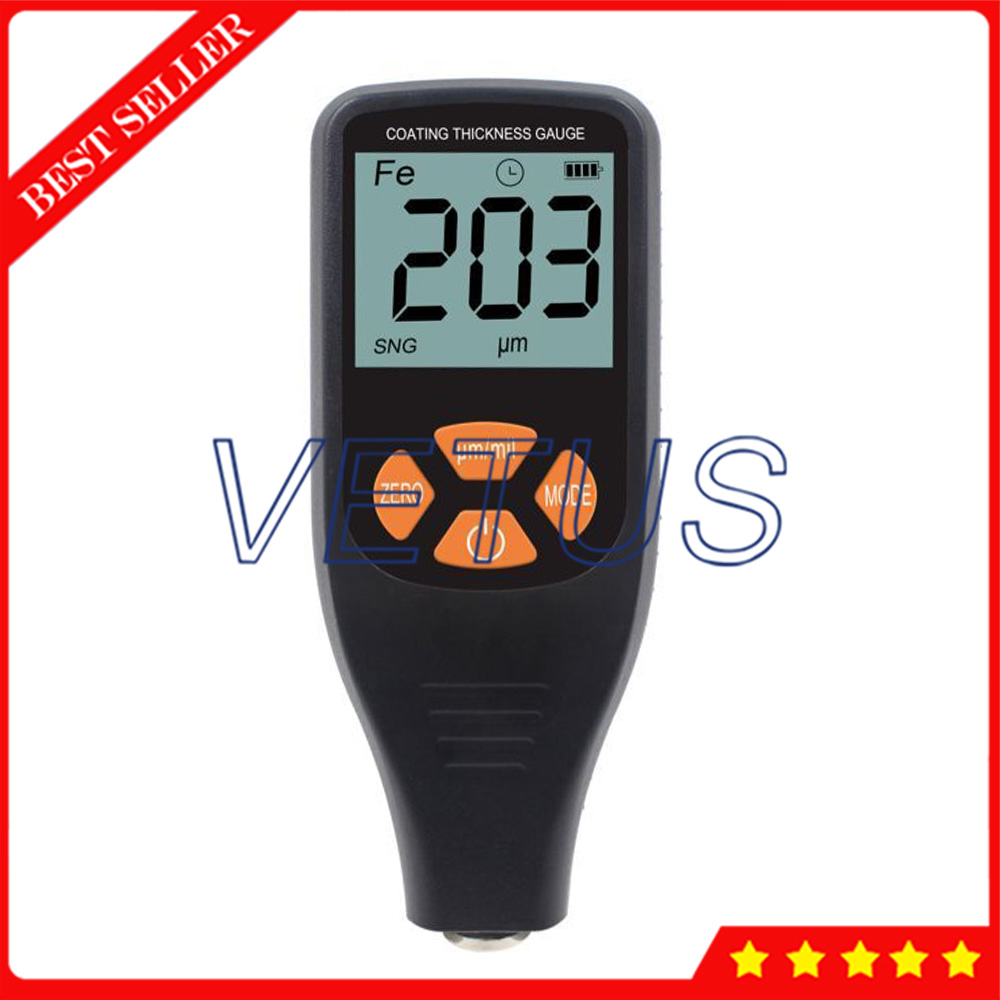Digital Handheld Coating Thickness Gauge With Integral Probe F/NF 0 to 1300um Range Paint Thickness TesterDigital Handheld Coating Thickness Gauge With Integral Probe F/NF 0 to 1300um Range Paint Thickness Tester