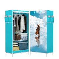 Cartoon Cloth Wardrobes Storage Cabinet Non woven Panorama Folding Cloth Closet 3D Wardrobe Small Wardrobe Closet