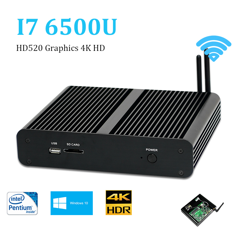 Skylake desktop computers pc intel core i7 6500u mini pc Windows 10 4g ram Nettop Dual HDMI HTPC HD520 Graphics 4K HD 300M WiFi baudelaire парфюмерная вода
