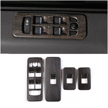 цена на Newest Oak Wood Style ABS Car Window Lift Button Switch Cover Trim For Land Rover Discovery Sport 2015+ Car Accessories