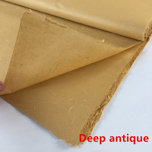 Image 3 - Рисовая бумага xuan для китайской живописи, наполовину НЕОБРАБОТАННАЯ рисовая бумага, 6 футов, Высококачественная картина ручной работы для создания кожи, цитрат 180*60 см