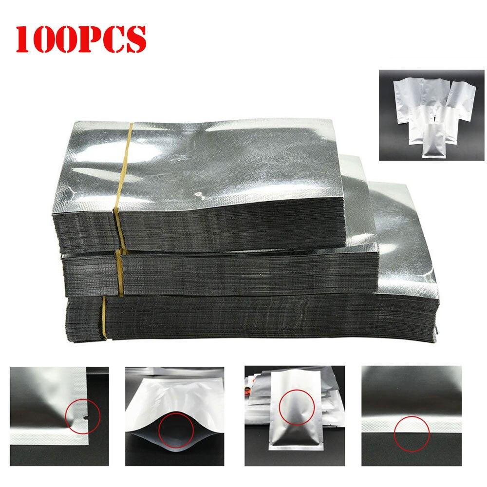 100PCS Aluminum Foil Mylar Bags Vacuum Sealer Food Storage Packages Pouches 8 Sizes