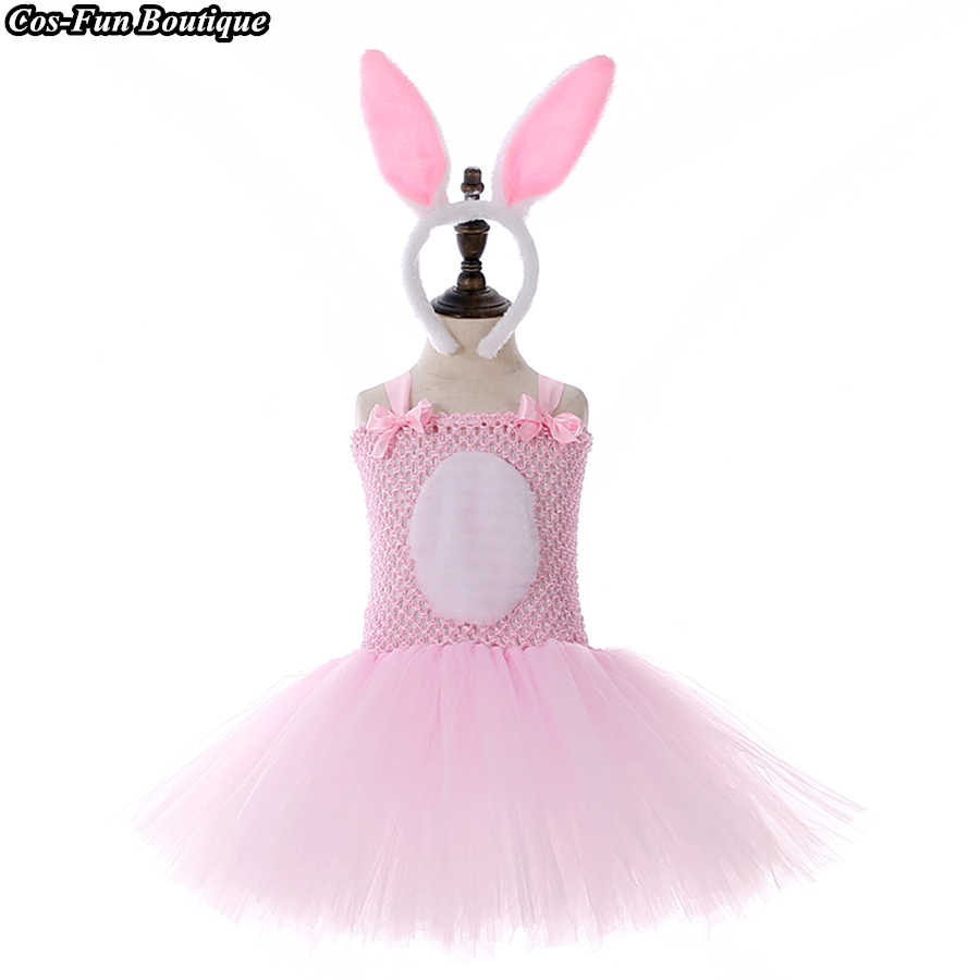fe9c7d097c24 Lovely Easter Bunny Outfit Cute Rabbit Party Cosplay Costume 2-7Y Baby Girl  Birthday Pink