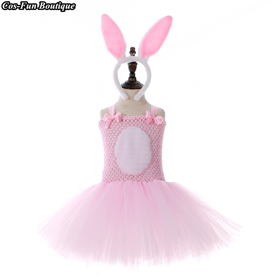 Toddler Baby Girls Bunny Party Pageant Princess Tutu Gown Dress Clothes Easter