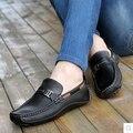 Los hombres Zapatos de Cuero Genuino Mocasines Resbalón En los Zapatos de Conducción Mocasines Moda Casual Pisos Zapatos Hombre Sapatos masculinos Sociales