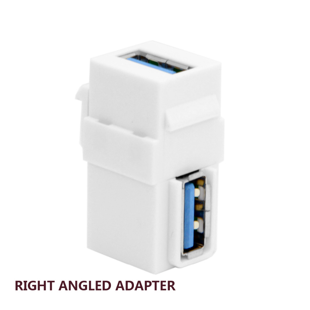 USB 3.0 A Female to A Female Extension Keystone Coupler Adapter for Wall Plate