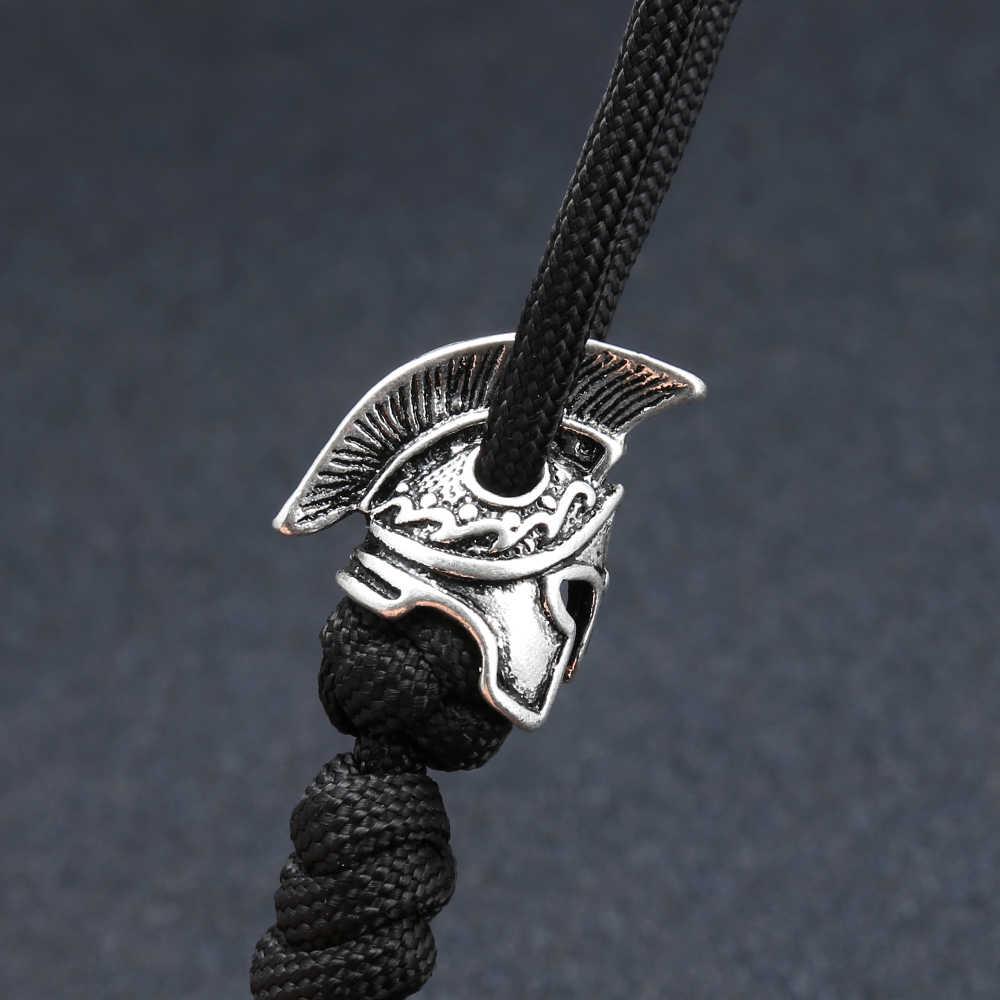 Sparta Nach paracord Lanyard/Keychain/Key Fob mit die messer Perle lanyard für schlüssel ring Seil Zubehör schmuck