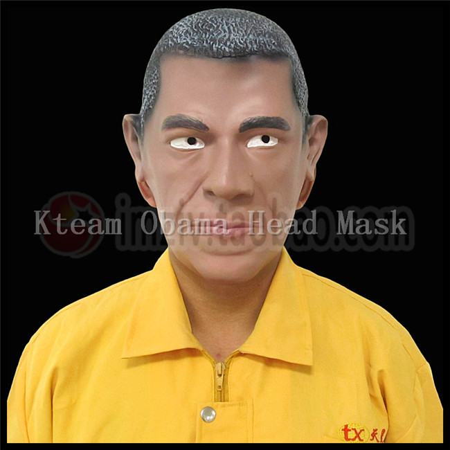 free size halloween party cosplay the president in united states barack hussein obama funny mask funny - President Halloween Mask