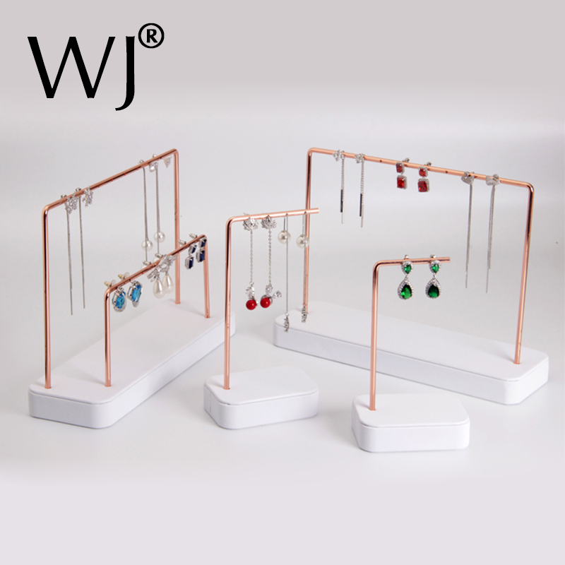 Earrings Ear Jewellery Display Stand Holder Metal Jewelry Ear Nails Pendant Necklace Bracelet Chain Ornament Organizer Hanger