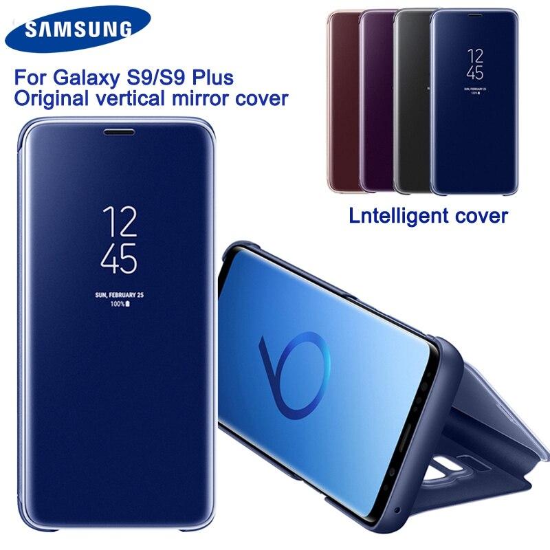 Samsung Verticale Originale Miroir Vue Dégagée De Protection Téléphone étui pour Samsung S9 G9600 S9 + Plus G9650 Miroir Couverture de Téléphone