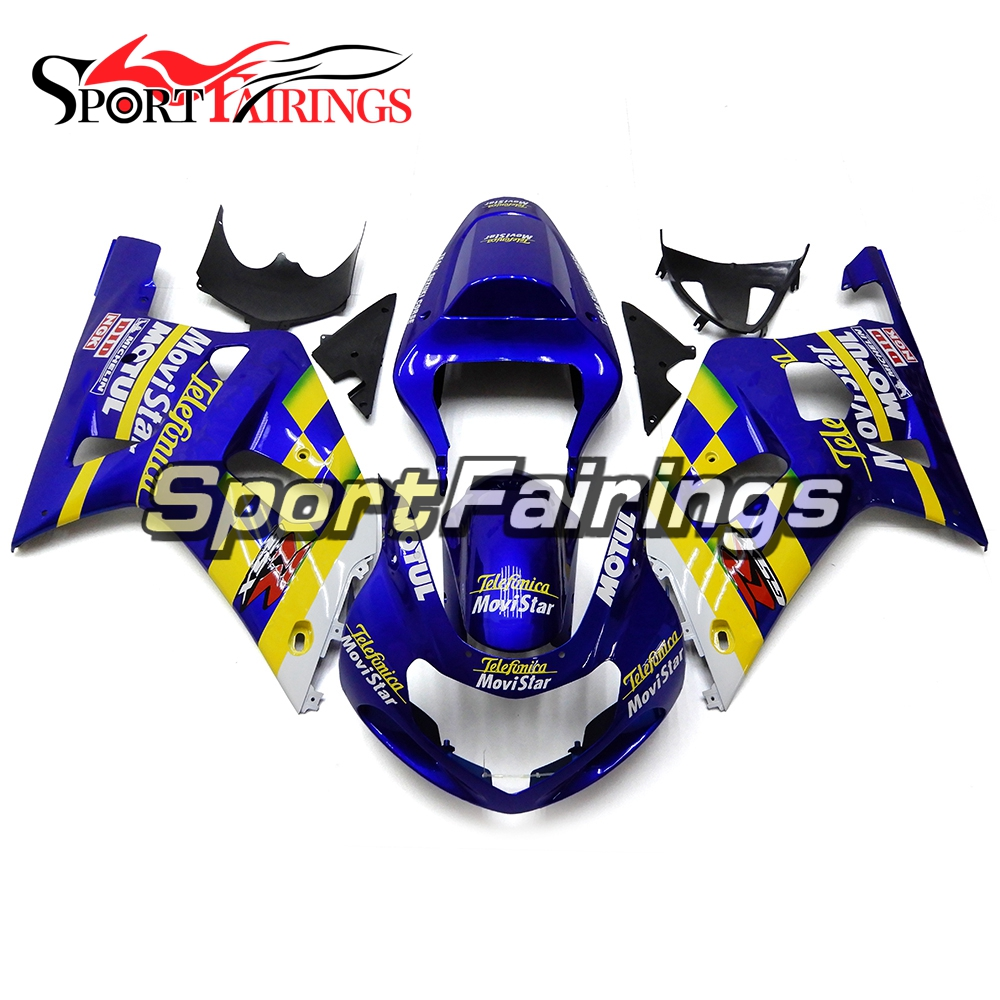 Buy Fairings For Suzuki GSXR600 750 K1 Year 00 01 02 03 2000 2003 ABS Motorcycle Fairing Kit Bodywork Cowling Blue Yellow White for $475.63 in AliExpress store