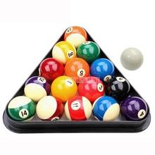 5,72 см Американский стандартный набор бильярдных шаров 16 шаров прочный синтетический смол Бильярд Пул мяч инструмент для практики с треугольная оправа