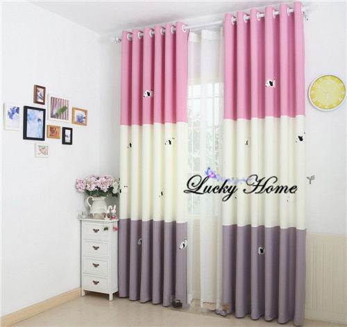 Curtains Fabric Curtains Cartoon Dogs Cortinas Para Sala Window Blinds Kids Curtains For Living Room Modern