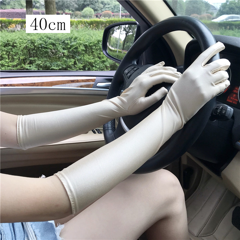 40cm Section Womens Gloves Sexy Thin Gloves Summer Gloves Driving Guantes Conducir Guantes Decuero Mujer in Women 39 s Gloves from Apparel Accessories