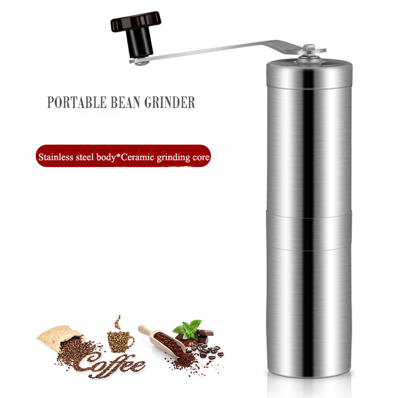 BEEMSK portable stainless steel hand grinder coffee bean manual pepper cafetera express