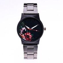 2018 Nova Moda Feminina Relógios de Pulso de Quartzo Analógico Mostrador preto Delicado Relógio de Aço Inoxidável Relógios De Luxo relogio feminino