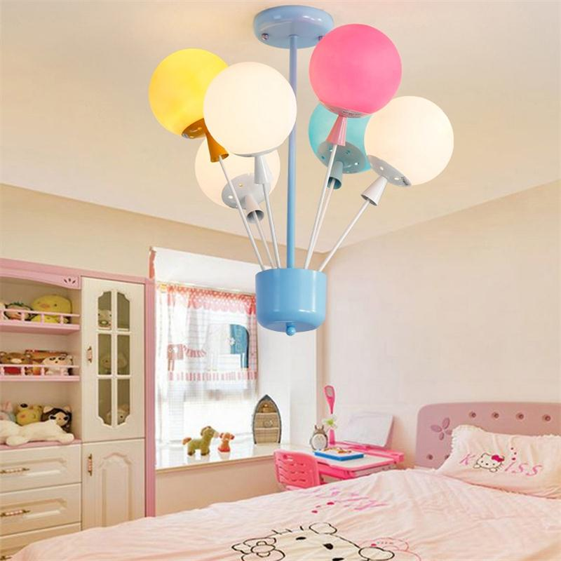 Modern Children Pendant Lamps Glass Colorful Balloon