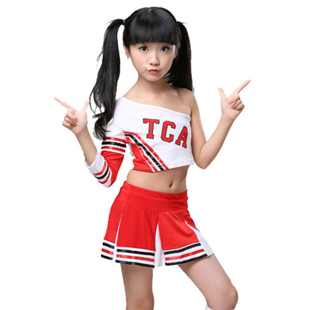 Children Competition Cheerleaders Girl School Team Uniforms KidS Kid  Performance Costume Sets Girls Class Suit Girl School Suits 88c82b63c