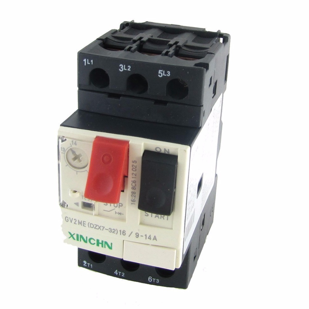 цена на DZX7-25/GV2-ME 9-14A 18A 25A 32A 10A 6A 3P Pole Thermal Magnetic Motor Protection Circuit Breaker MPCB
