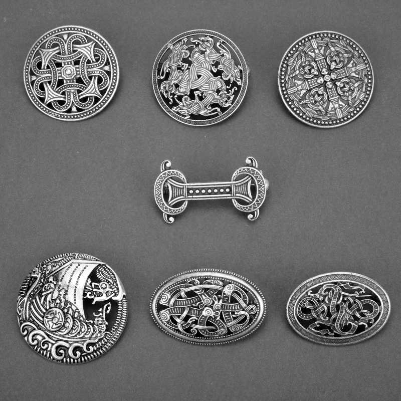 Viking Amulet Broche Ierse Knot Hoeden Sjaal Clips Accessoires Kleding Broches Voor Vrouw Party