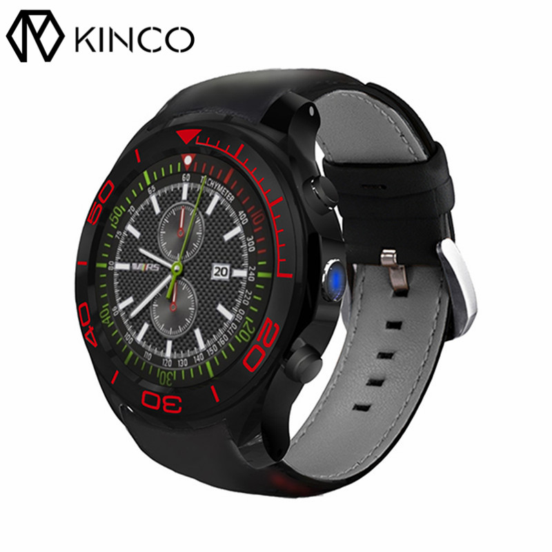 KINCO MTK6580 512M+8G 1.3inch GPS OGS Capacitive Screen 3G SIM Smart Phone Watch Camera Heart Rate Monitor Watch for IOS/Android kinco mt6572a 512m 4g gps ips 1 3 inch android 4 4 smart phone watch heart rate monitor steps anti lost bracelet for ios android