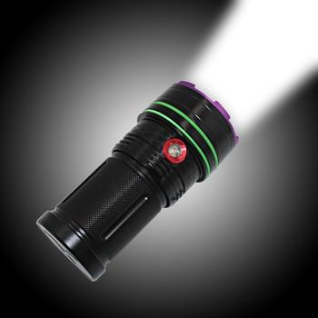 Tactical Hunting Flashlight 16pcs T6 LED Flashlight Waterproof Torch Aluminum Fishing Light Lamp White Light Lanterna