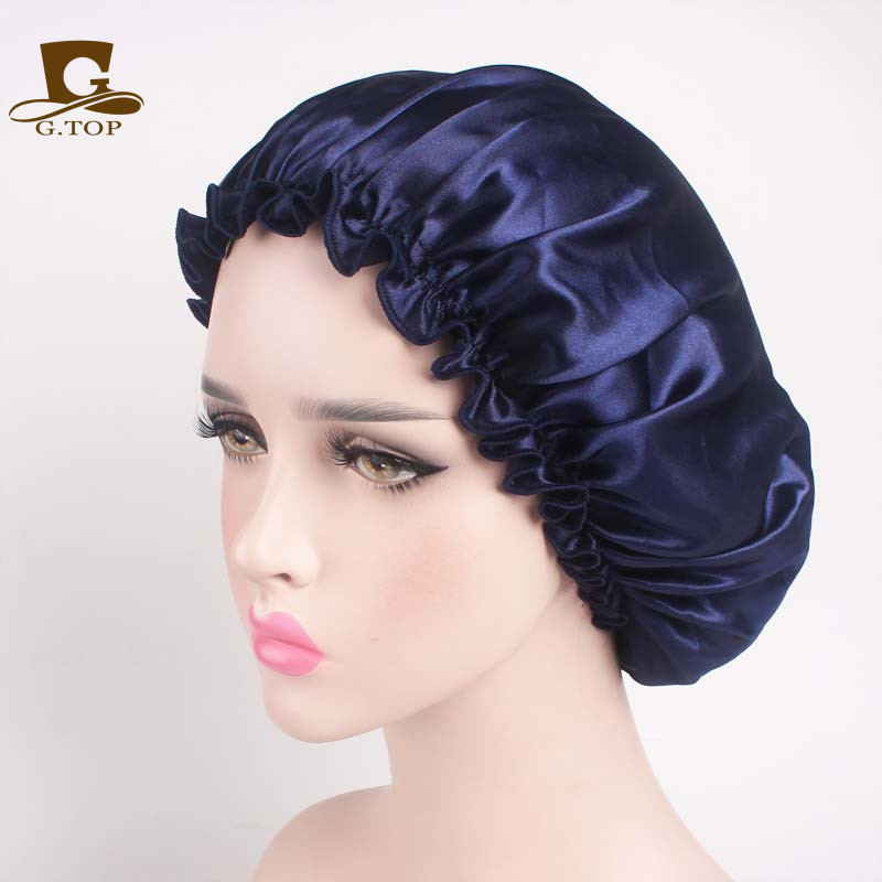 Beauty salon cap satin Sleep Night Cap Head Cover Bonnet Hat for For Curly Springy Hair