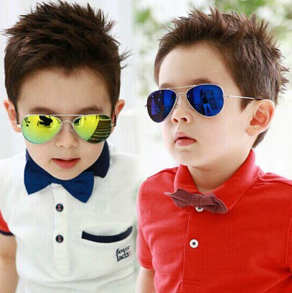 2017 merek desainer kacamata matahari untuk anak anak keren cermin reflektif bingkai