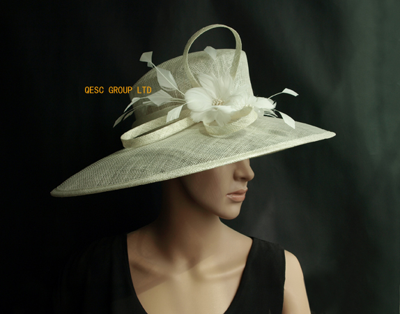 New 5 Colours Ivory Cream Large Brim Sinamay Hat Kentucky Derby Las For Ascot Races Melbourne Cup Wedding Church In Fedoras From Women S